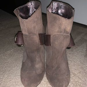Metallic Brown Booties